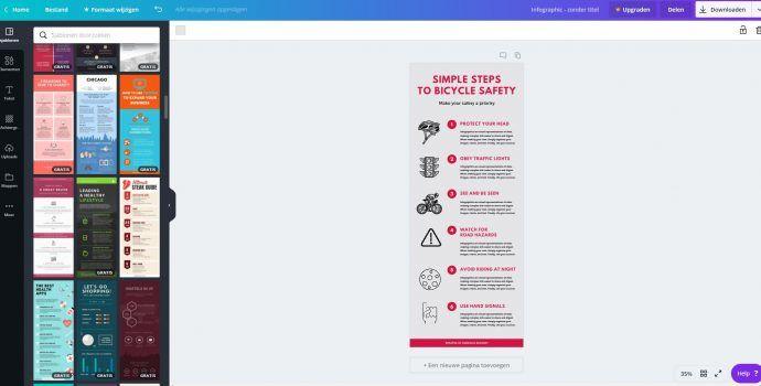 schermafbeelding voorbeeld canva