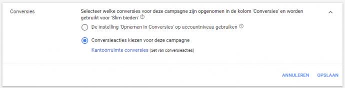 Ads-conversieacties