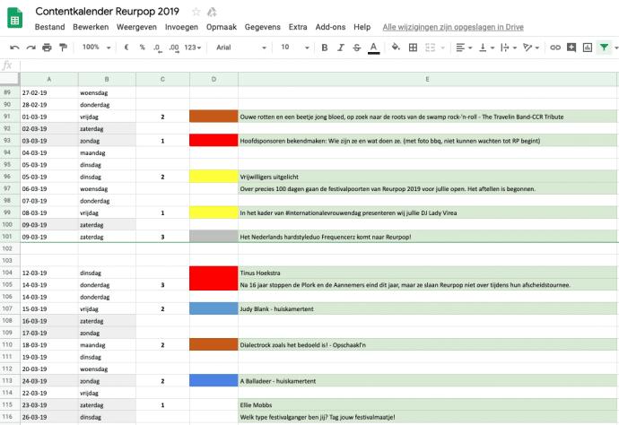 Contentkalender Reurpop Team Nijhuis