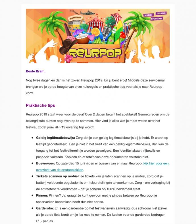 Nieuwsbrief Reurpop Team Nijhuis