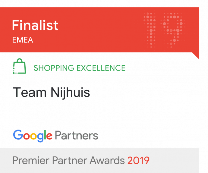 Google Shopping excellence award nominatie