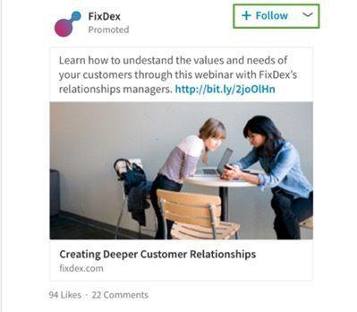 Volgadvertentie om meer volgers te creëren voor je bedrijfspagina