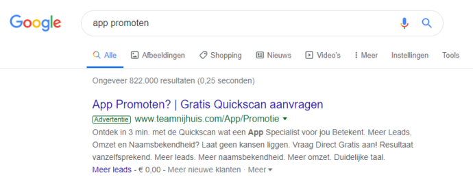 Adverteren in Google via Ads