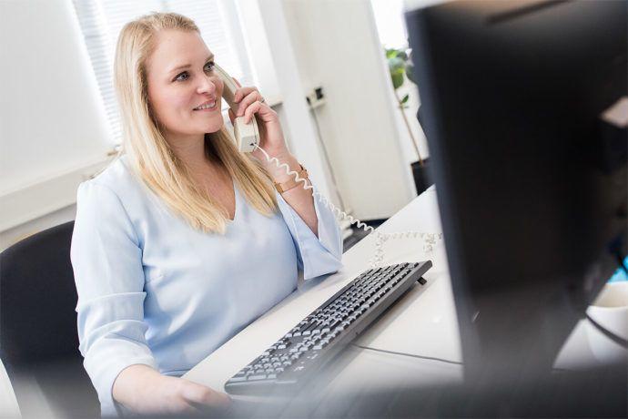 Stap 1 is een telefonische inventarisatie met Sales