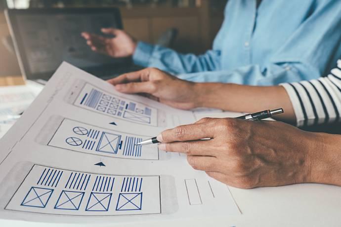 Functioneel ontwerp webdesigner gaat aan de slag