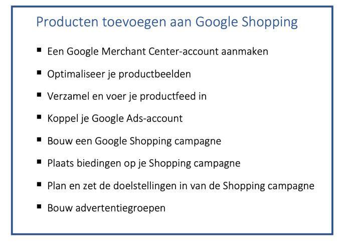 stappenplan Google Shopping inzetten