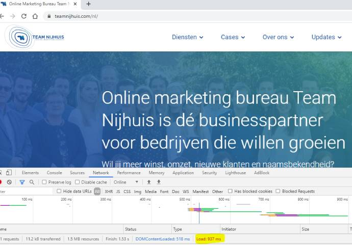 Test je website snelheid vanuit Google Chrome webbrowser of met tools