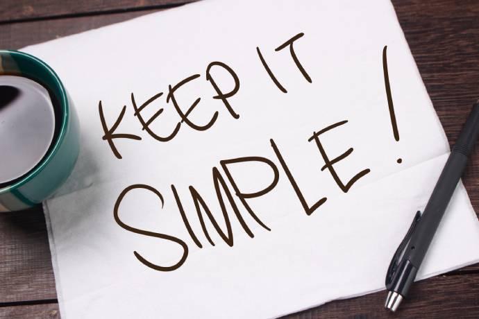 Houd het simpel en behapbaar