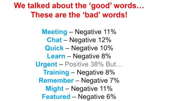Gebruik deze woorden niet