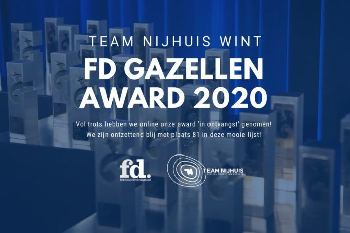 plek 81 in de rankings van de FD Gazellen 2020 awards